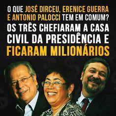 Post  #FALASÉRIO!  : Os petistas José Dirceu, Erenice Guerra e Antonio ...