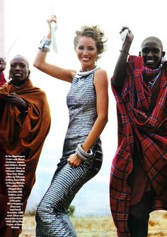 "Christy Turlington in Vogue UK, December 1991, by Arthur Elgort | ""Serengeti Dreaming..."""