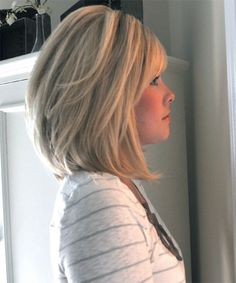 Shoulder length stacked bob hairstyles
