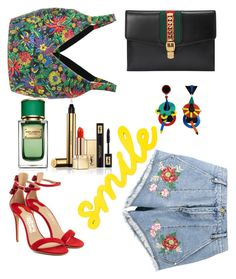 """""""A floral combination"""" by hanija21 ❤ liked on Polyvore featuring House of Holland, 3.1 Phillip Lim, Gucci, Salvatore Ferragamo, Yves Saint Laurent and Dolce&Gabbana"""