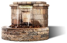 The Oasis II Water Feature modern outdoor fountains