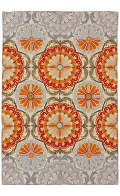 Must find something similar in tile for the kitchen. (Festival Rug - anthropologie.com)