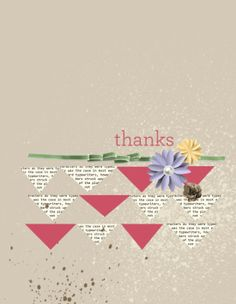 Thank you card designed with Stampin' Up!'s My Digital Studio software