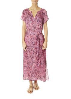 This is the 'Fiona' Leopard Print Pink Maxi Dress by our friends at Primrose Park! A new style this season, Primrose Park's 'Fiona'. Pink Leopard Print, Pink Maxi, White Shirts, Blue Blouse, Wrap Dress, Short Sleeve Dresses, Park, London, Shopping