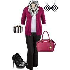 """""""plus size outfit updated with different shoes"""" by penny-martin on Polyvore"""