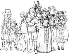 Zelda Twilight Princess characters cast on pencil Twilight Princess Characters, Zelda Twilight Princess, My Father's Daughter, Evil Demons, Different Kinds Of Art, Demon King, Loki Marvel, Hitman Reborn, Disney Marvel