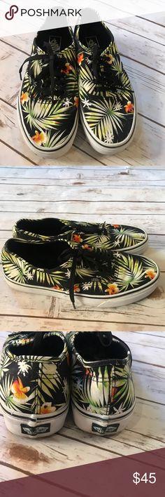 Tropical print vans! NWOT! Size 10 Tropical print vans sneakers! NEW without box! Men's size 10 Vans Shoes Sneakers