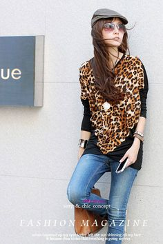 Los Angeles Style Black / Red leopard clothing