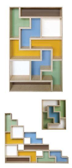 Tetris #bookcase #bookshelf
