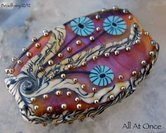 All At Once Focal bead , lampwork bead with murrini ,  glass beads by Beadfairy Lampwork. $34.90, via Etsy.
