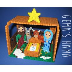 3D Nativity - Christmas hama beads by gemashama