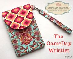 The GameDay Wristlet - New FREE pattern download from Raspberry Sunshine.