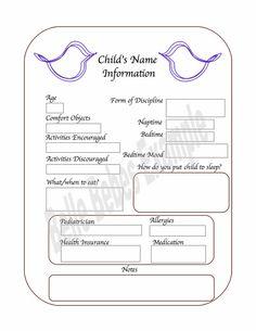 Nanny binder | Information for Nanny's | Pinterest | The o'jays ...