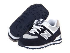 New Balance Kids KL574 (Infant/Toddler) Navy F13 - Zappos.com Free Shipping BOTH Ways