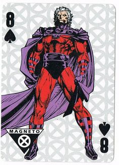 Pc109 - Magneto, Eight of Spades / Heroic Tarot cards