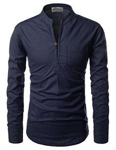 Mandarin Slit Linen Shirt is part of Mens tshirts - in) Size Shoulder Chest Sleeve Total Length XS 41 94 64 71 S 43 100 65 73 M 45 106 66 75 L 47 Mens Fashion Wear, Suit Fashion, Fashion Photo, Henley Shirts, Stylish Shirts, Casual Shirts, Shirts For Men, Mode Man, Mens Designer Shirts