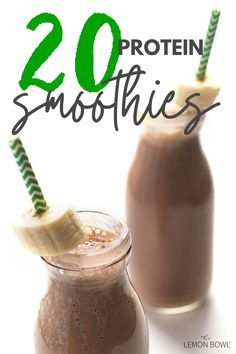 Here are my top 20 protein smoothie recipes perfect for quick morning breakfasts, after-school snacks, or for refueling after a workout.