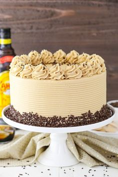 Kahlua Coffee Chocolate Layer Cake - moist soft chocolate cake with Kahlua coffee frosting! Kahlua Coffee Chocolate Layer Cake - moist soft chocolate cake with Kahlua coffee frosting! Salted Chocolate, Best Chocolate, Chocolate Coffee, Chocolate Peanut Butter, Chocolate Cake, German Chocolate, Layer Cake Recipes, Dessert Recipes, Layer Cakes