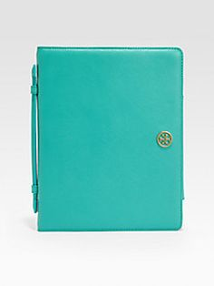 Tory Burch  Robinson Leather Flip Cover for iPad