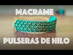 pulseras de hilo encerado anchas - YouTube