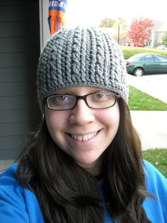 Crochet cable beanie. Free on Ravelry.