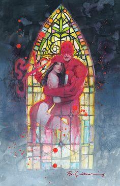 Daredevil and Elektra by Bill Sienkiewicz *