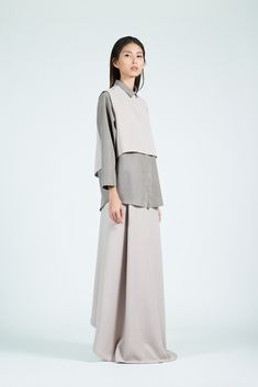 Sleeveless top, shirt, skirt : KAAREM, they know simple