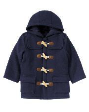 Janie & Jack's hooded toggle coat.  Ya-Ya just bought this for Reid, cannot wait for cooler weather.