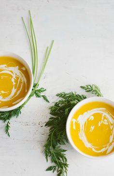creamy carrot orange soup | the vanilla bean blog