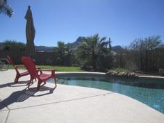 Enjoy The Peace And Quiet Of Your Private Pool At The Base Of Sombreo Peak.Vacation Rental in Tucson from Oro Valley, Private Pool, Home And Away, Vacation Spots, Swimming Pools, Patio, Outdoor Decor, Tucson, Travel