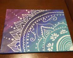 Henna on canvas von VitaBellaArt auf Etsy - zeichnungen Mandala Art, Mandala Canvas, Mandala Drawing, Mandala Painting, Painting & Drawing, Henna Canvas, Henna Mandala, Henna Art, Mandala Tattoo