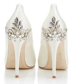 Embellished, tan bridal flats | Craig Hodge Photography | Theknot ...