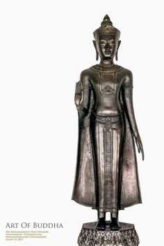 Standing Buddha Statue, Buddha Statues, Art Thai, Thai House, Buddhist Art, National Museum, Buddhism, Worship, Thailand