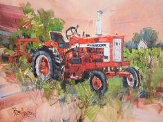 Old Faithful When painting any subject I often imagine human characteristics and attributes. And there are plenty of fascinating human idiosyncrasies to choose from. It's a good thing that we can laugh at ourselves. This amiable hard-working tractor struck me as a dependable friend who would never let you down.