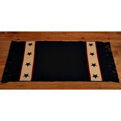 New Primitive Country BLACK BARN STAR Tan Wine Floor Mat Area Rug #CountryHouse #Woven