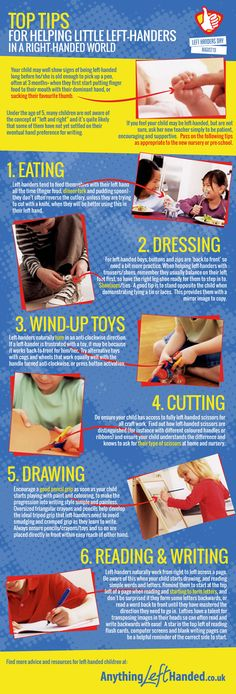 Helping young left-handed children
