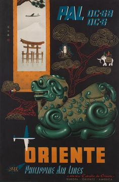 Orient • Philippine Air Lines #travel #poster