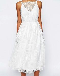 ASOS | Кружевное платье миди с геометрическим узором ASOS Premium