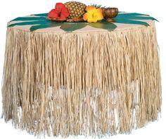 "Natural Raffia Table Skirt | 9' long x 28"" tall **cut up raffia for quidditch broomsticks***"