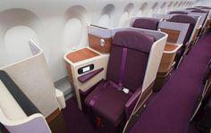 Thai Airways business class on board the Airbus A350. Thai's first A350 XWB…