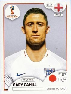Panini Stickers Panini Football Sticker Albums FIFA World Cup Russia 2018 sticker Gary Cahill - England, FIFA World Cup Russia 2018 2018 ref. England World Cup 2018, England Football Players, 1966 World Cup Final, Gary Cahill, Sport Football, Football Cards, World Cup Russia 2018, America's Cup, Sports