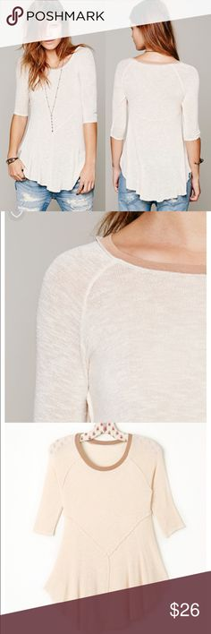 NWT Free People Intimately Weekends Layering Top (Currently $40 on website)  This lightweight sheer knit top that flows at the bottom is a great layering piece. Reverse seaming, a ribbed trim neckline, and an unfinished uneven hem that's longer in the middle complete the style.  Intimately  95% Rayon 5% Spandex Hand Wash Cold Import Free People Tops