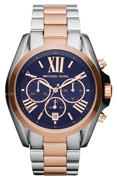 Michael Kors comes through with the blue dial. Still would prefer the Rolex yacht watch.