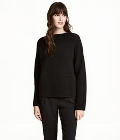 Black cotton sweater H&M
