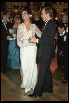 Caroline and Albert at the Bal de la Rose 1989