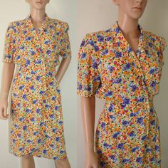 Bright ditsy floral print short sleeved pretty by FrayedWithLove