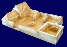 Hudson & Allen 25 mm Medieval Fortified Farmhouse Building for Tabletop Wargames Manor Houses, Old Houses, Castle Floor Plan, Medieval Houses, House Improvements, Fantasy House, Fortification, Miniature Houses, Forts