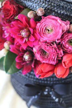 {Hat Box} Jane Packer Style Hat Box by Tempting Tulips. 햇박스 템팅튤립스