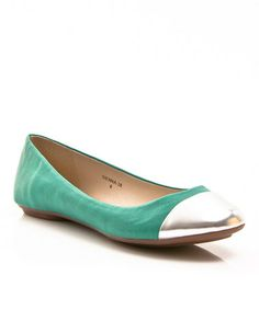 Another great find on #zulily! Teal & Silver Sienna Flat #zulilyfinds