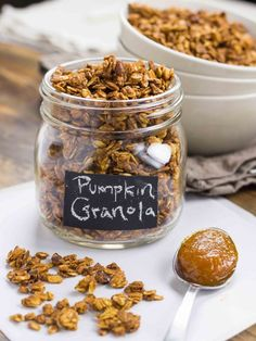 Pumpkin Granola is a perfect and easy way to have a healthy breakfast in the autumn.